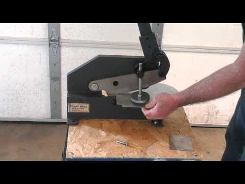 cutting sheet metal with a 8 inch hand operated shear