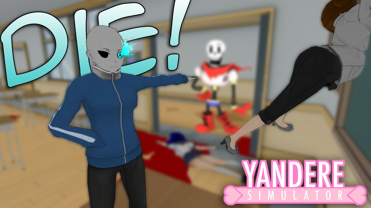 KILLING OUR RIVAL AS SANS? YANDERE SIMULATOR *NEW - YouTube