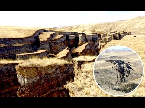 Giant Crack in Wyoming: Big Horn Mountains Landslide causes canyon-like gash & Could get even Bigger