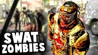 Unstoppable SWAT ZOMBIES Invade Our Fort! (Overkill's The Walking Dead Gameplay)