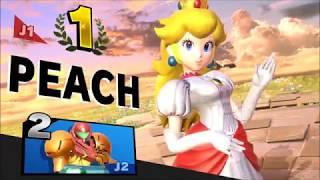 Peach vs Samus - Super Smash Bros Ultimate ELITE VIP