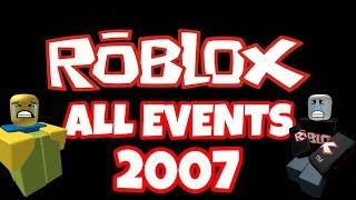 ROBLOX EVENT EVOLUTION - 2007