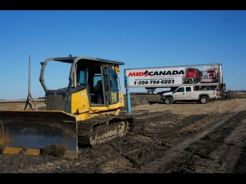 Inland Port Being Constructed Near Letellier, MB