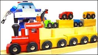 Robocar Transformers Chainsaw Rescue! - Railway Train & Toy Cars Adventure! [ 로보 카 폴리 ]