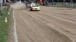 Carpulling Werkhoven 2010 Trouble Maker 2de manche autotrek Carola