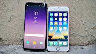 Samsung Galaxy S8 vs iPhone 7 - Drop Test