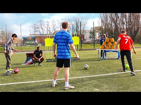 OBSTACLE COURSE FOOTBALL CHALLENGE
