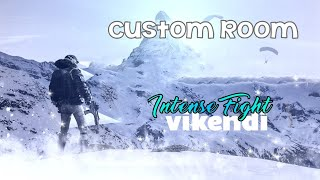🪂Intense Fight🪂 In Vikendi Map Pubg Mobile t³ Custom Room Match Join 🙏🏻¹⁹Days Full Watching🙏🏻