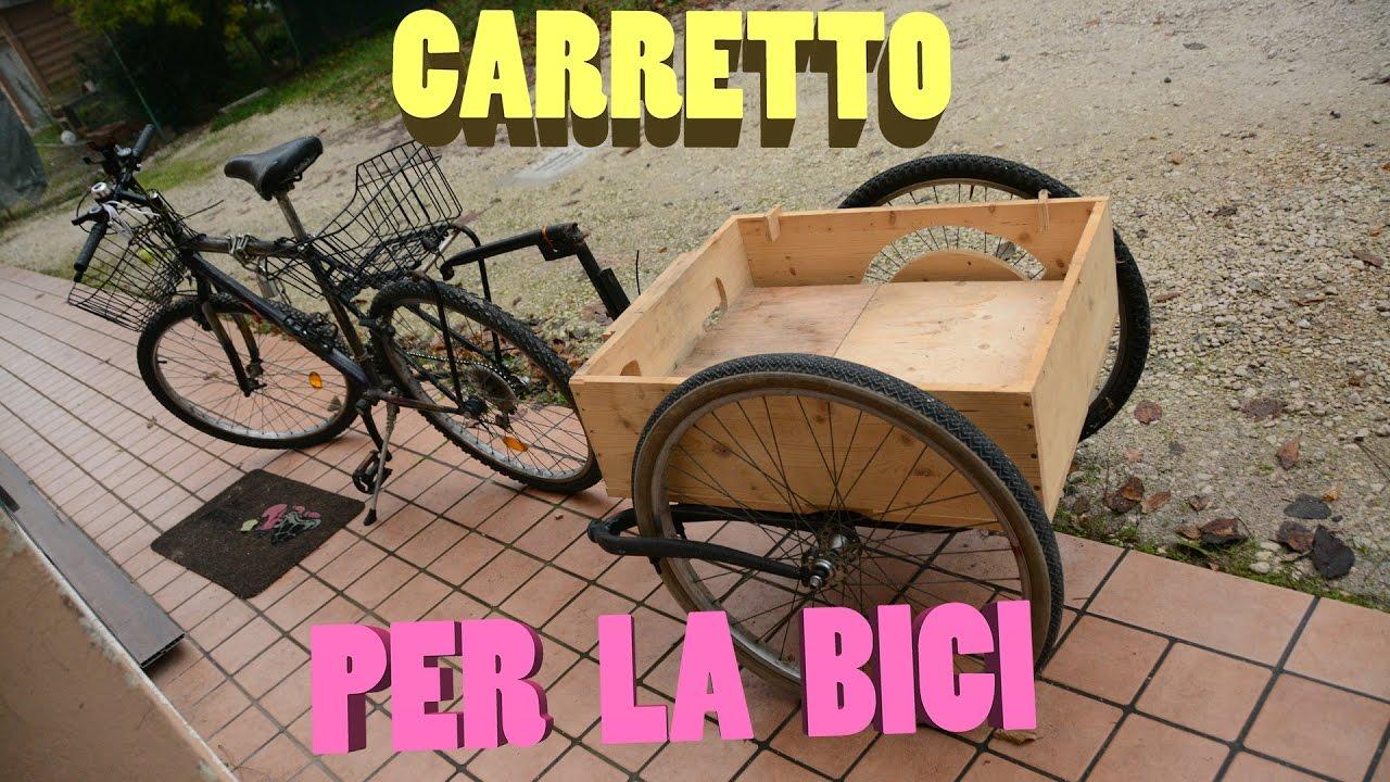 Carrello Da Giardino Usato : Il carretto per la bici fai da te youtube
