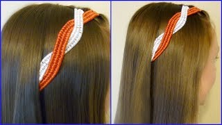 4th Of July Hairstyles, Infinity Braid Ribbon Twist