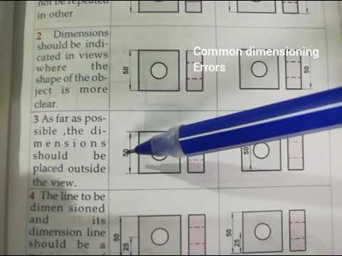 Engineering Graphics-Dimensioning &line types