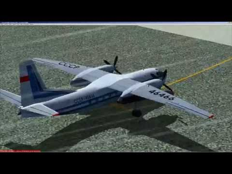 FS 2004 [FS9]  An 24 RV   АН 24 РВ   полет по РСБН   RSBN flight   Cold and Dark   UHMD - UHMA