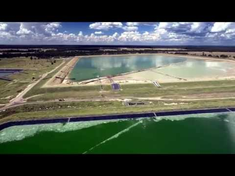 """Coal Seam Gas Hell"" Evaporation Pond Brine Leak - QGC Chinchilla Queenland Australia"