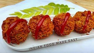 Maggi Pakora - Recipe in Hindi - by Indian Food Made Easy - Maggi Pakora Banane Ka Tarika
