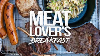 The Ultimate Meat Loverand39s Breakfast  Sam The Cooking Guy 4k