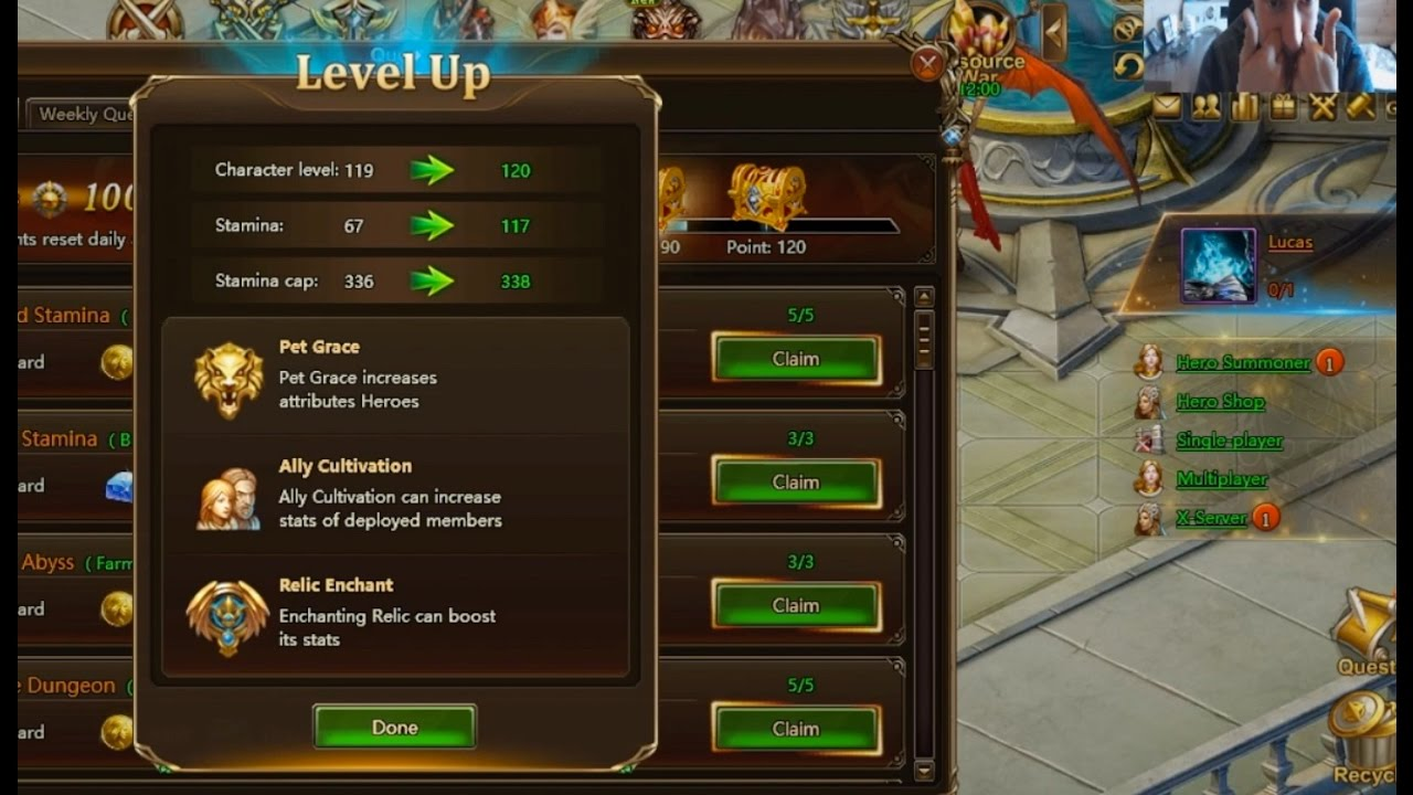 Download LVLING TO THE FINALE LEVEL ON MY MAIN in League of Angels 2