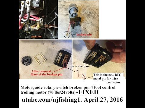 Motorguide 70 lbs 24 volts foot control trolling motor - part 3 of 4 (FIXED)