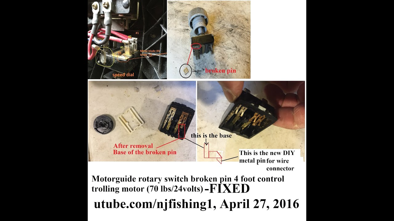Motorguide 70 lbs 24 volts foot control trolling motor - part 3 of 4 ...