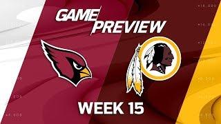 Arizona Cardinals vs. Washington Redskins   NFL Week 15 Game Preview