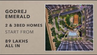 1.5, 2 & 3Bed Homes Godrej Emerald Thane Gaimukh | starts 89 lacs all in*