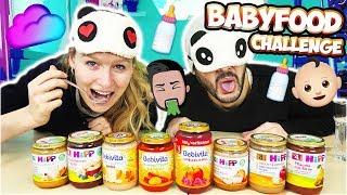 BLIND BABYFOOD Challenge mit Baby-Kaan & Baby-Kathi! Ekliges Babyessen für Erwachsene? Blind Taste