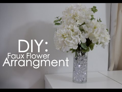 Diy Fake Flower Arrangment Youtube