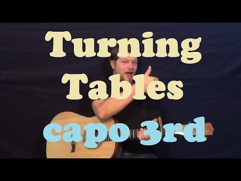 Turning Tables (Adele) Guitar Lesson Easy Strum Chords How to Play ...