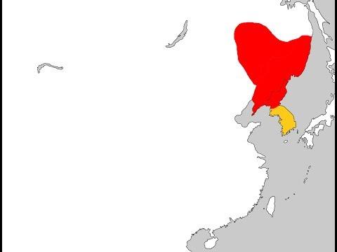 발해의 지도 Map of Balhae 698 - 926.