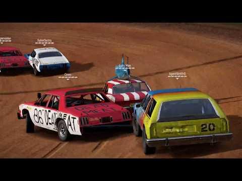 "Wreckfest "" PC "",carrera con el Quemarruedas nº 68,circuito de Bloomfield Speedway"