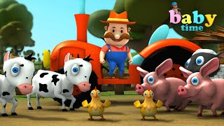 Old MacDonald Had A Farm - 3D Animation Poem Nursery Rhymes & Songs for Kids l Baby Time