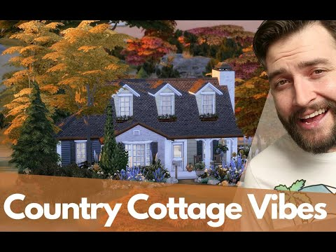Sims 4 Country Cottage using the new Kitchen Kit |