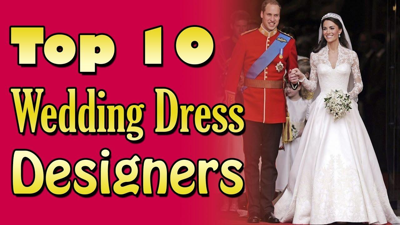 Top 10 Wedding Dress Designers   Nfx Fashion Tv - YouTube