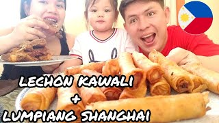 lechon kawali + lumpiang shanghai mukbang l arvielee vlog