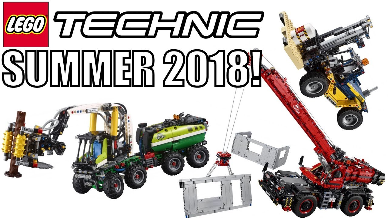 lego technic summer 2018 sets heavy duty forklift forest. Black Bedroom Furniture Sets. Home Design Ideas