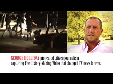Rodney King beating: FIRST EVER VIRAL VIDEO by George Holliday.
