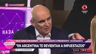 """José Luis Espert en """"Nada personal"""" con Viviana Canosa, por El Nueve el 16 de mayo de 2019"""