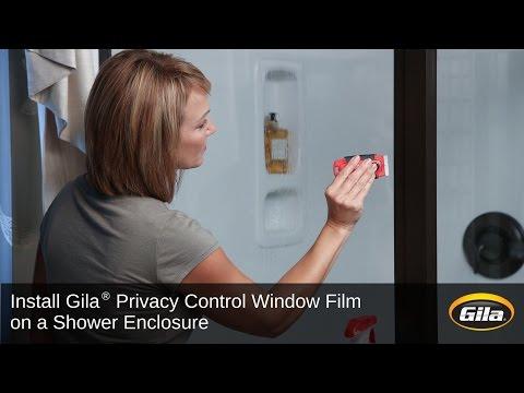 Install Gila® Privacy Control Film on a Shower Enclosure