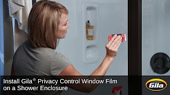 Install Gila Privacy Control Film On A Shower Enclosure Foothill Door Window