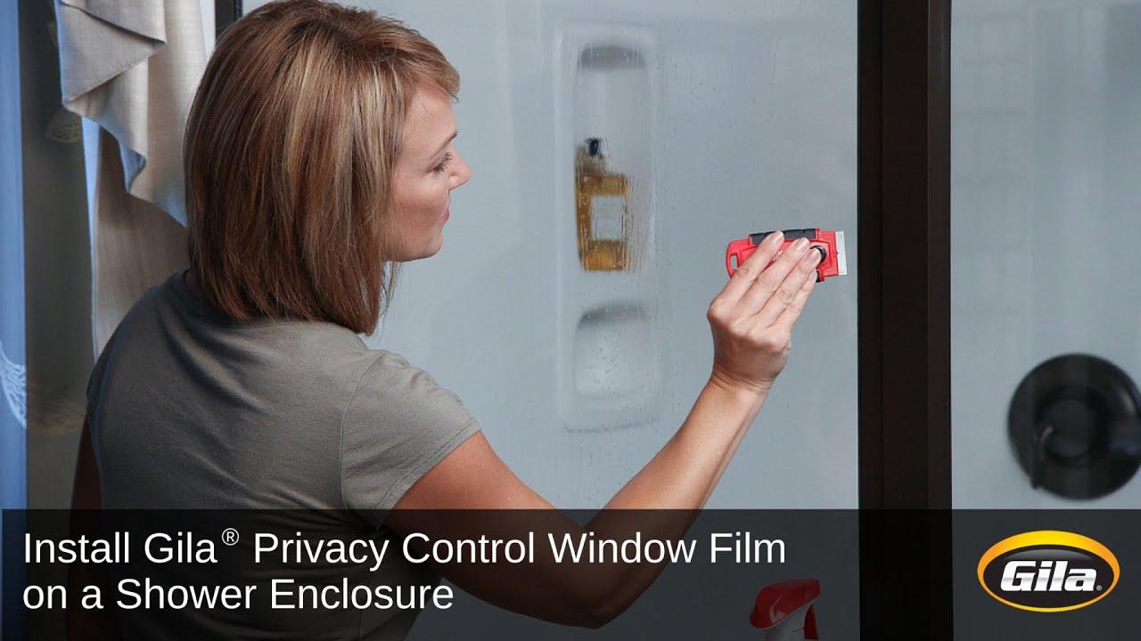 Install Gila Privacy Control Film on a Shower Enclosure