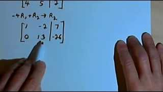 Solving Systems of Equations with Augmented Matrices 141-42