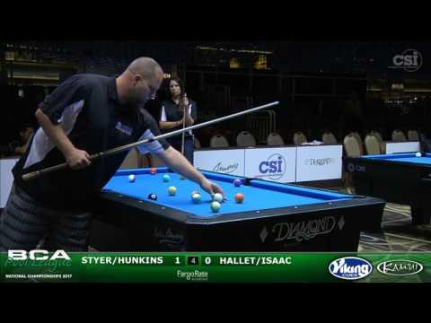 2017 BCAPL Nationals - 8-Ball Platinum Scotch Doubles: Styer/Hunkins vs Hallet/Isaac