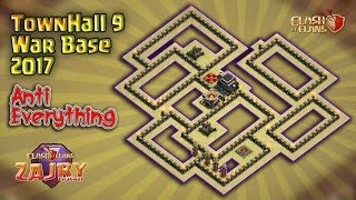 STRONGEST!!! New Popular Base | TH9 War Base Terbaik 2017 | Clash of Clans