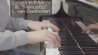 """Beethoven Sonata Op. 2 No. 1 - III, """"Menuetto"""""""