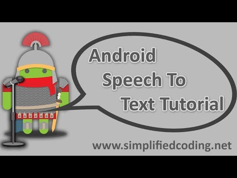 Android Speech to Text Tutorial - YouTube