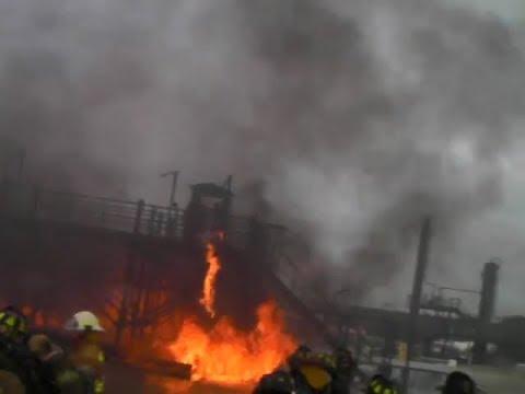 Oil Refinery Fire