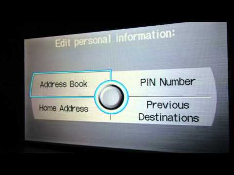 How to remove and delete all personal info on Acura and Honda Navigation System