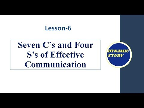 Seven C's And Four S's Of Effective Communication In Detail