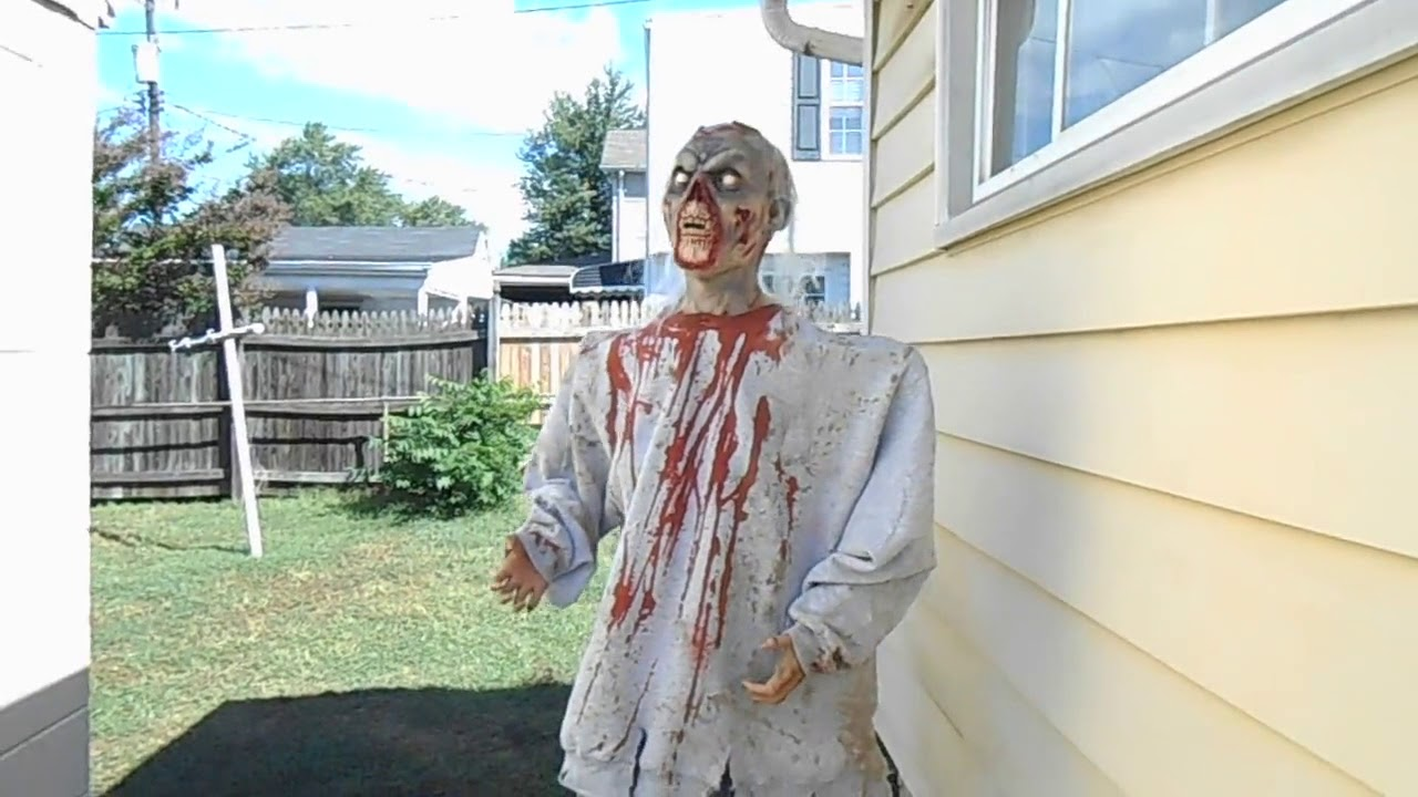 diy zombie animatronic halloween prop
