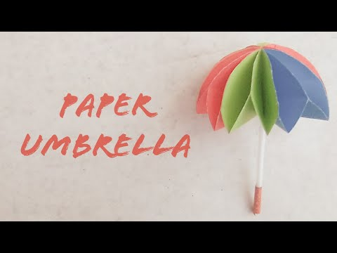 How to make easy and simple colorful paper Umbrella/DIY Umbrella Tutorial/Home decor/The Best Crafts