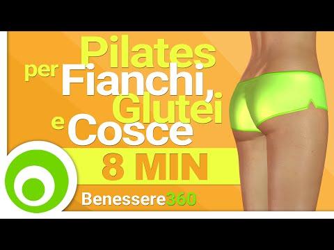 Pilates per Fianchi, Glutei e Cosce. 8 Minuti di Esercizi per Modellare e Rassodare